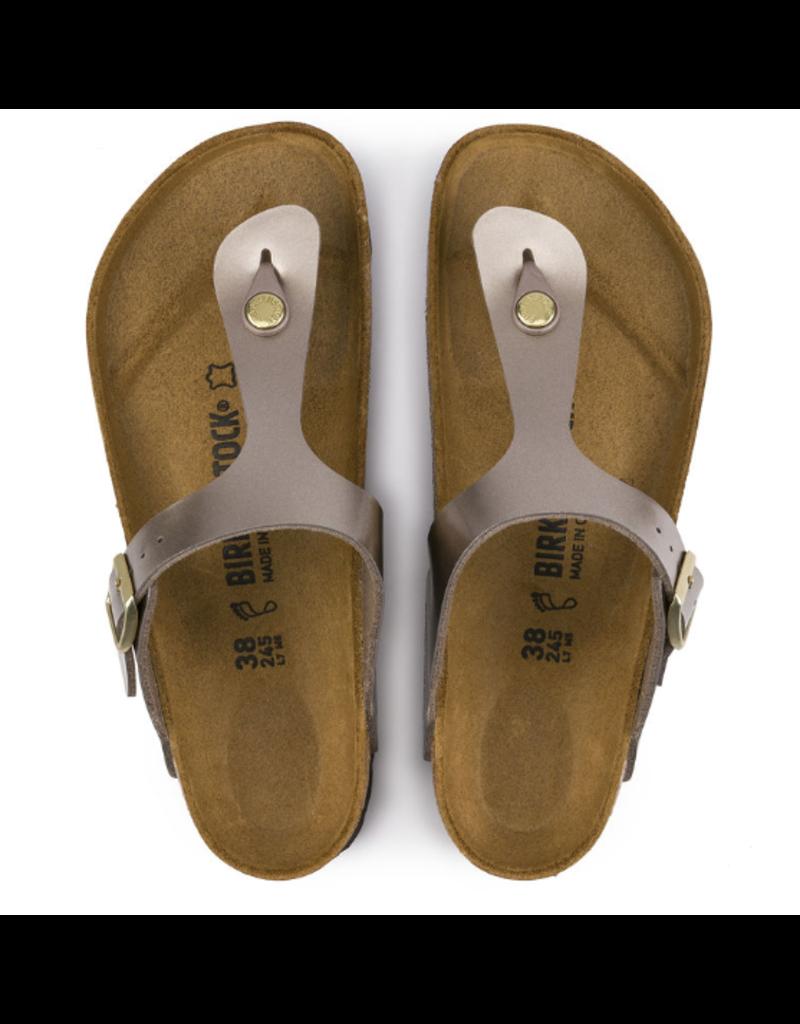 Birkenstock Birkenstock Gizeh Electric Metallic taupe sandalen dames (S)