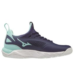Mizuno Wave Luminous donkerblauw indoor schoenen dames