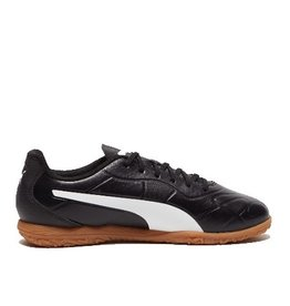 Puma Monarch IT Jr zwart wit indoor voetbalschoenen kids