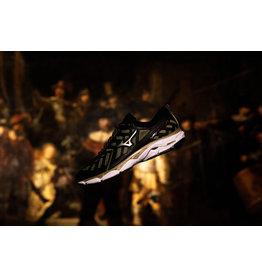 Mizuno Wave Ultima 11 Rembrandt zwart goud hardloopschoenen uni