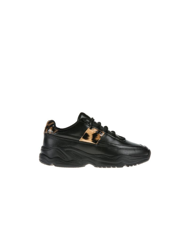 Björn Borg Björn borg  X310 low leo W0920 zwart bruin sneakers dames