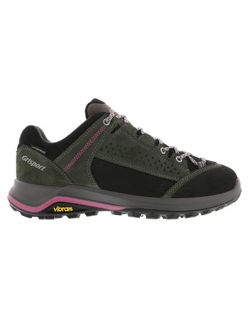 Grisport Grisport Siena Low groen roze wandelschoenen dames