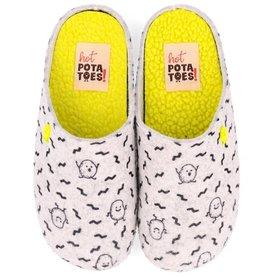 Hot Potatoes HP 57056 grijs pantoffels meisjes