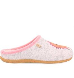 Hot Potatoes HP 57058 grijs roze pantoffels meisjes