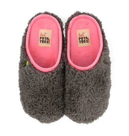 Hot Potatoes HP 57029-03 grijs roze pantoffels dames