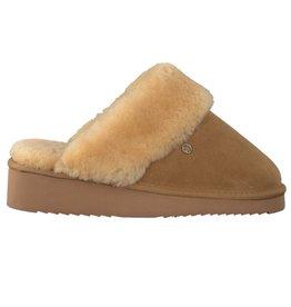 Warmbat Alice Suede bruin pantoffels dames