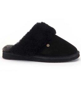 Warmbat Flurry Suede zwart pantoffels dames