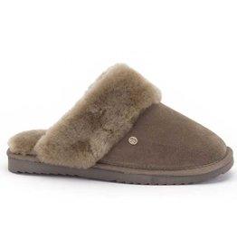 Warmbat Flurry Suède groen grijs pantoffels dames
