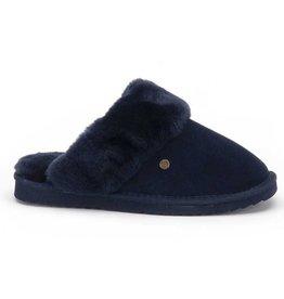 Warmbat Flurry Suède donkerblauw pantoffels dames