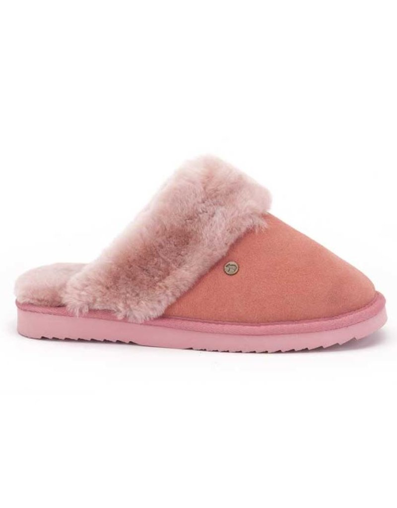 Warmbat Warmbat Flurry Suède roze pantoffels dames