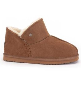 Warmbat Willow Suède cognac pantoffels dames