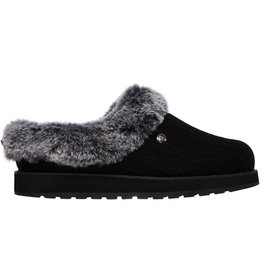 Skechers Keepsakes Ice Angel zwart grijs pantoffels dames