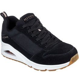 Skechers Uno- Two for the show zwart sneakers dames