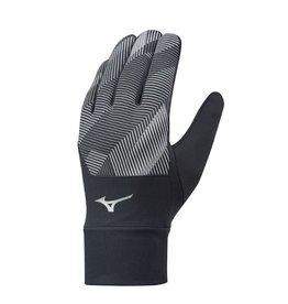 Mizuno Windproof Glove hardloophandschoenen zwart grijs
