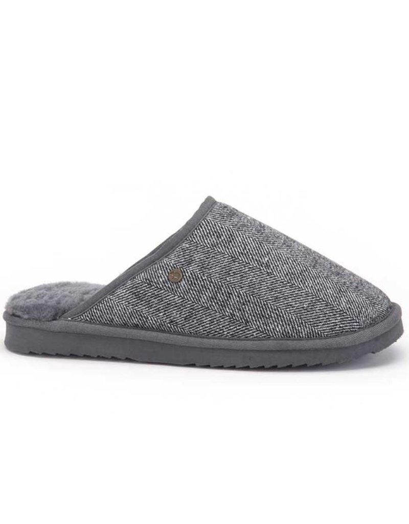Warmbat Warmbat Classic Herringbone grijs pantoffels heren