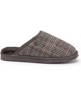 Warmbat Classic Check Pebble bruin pantoffels heren