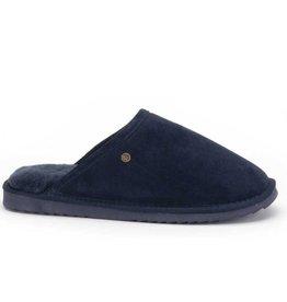 Warmbat Classic Suède donkerblauw pantoffels heren