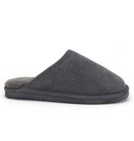 Warmbat Classic Suède donkergrijs pantoffels heren