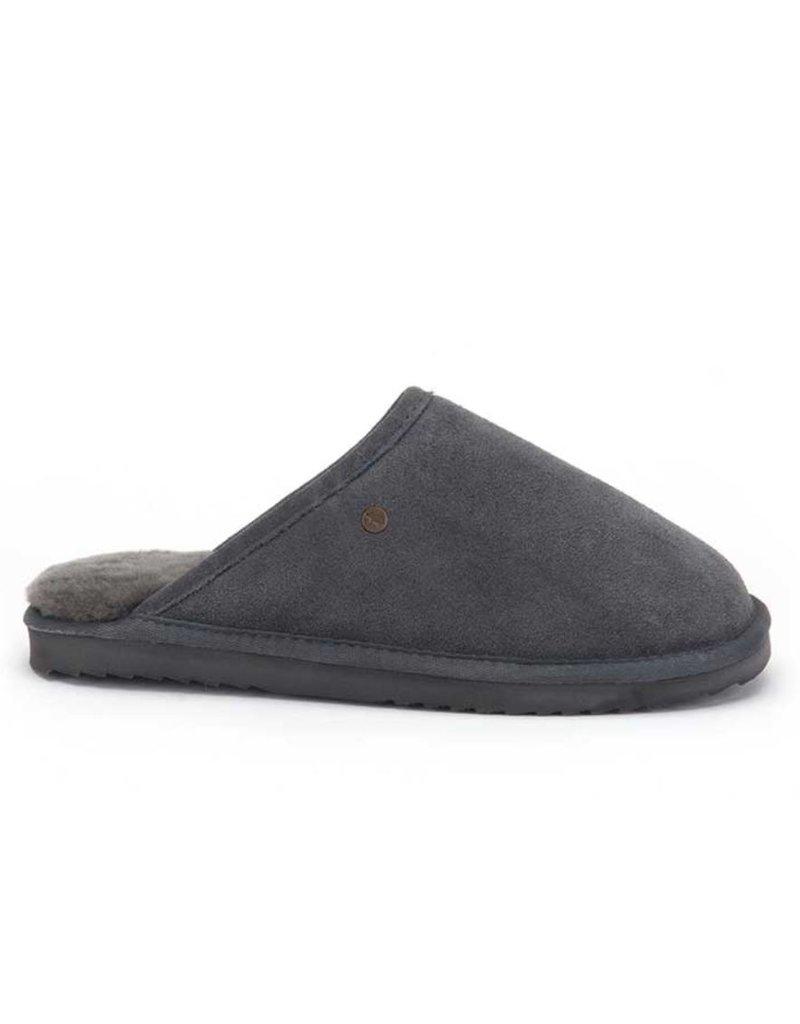 Warmbat Warmbat Classic Suède donkergrijs pantoffels heren