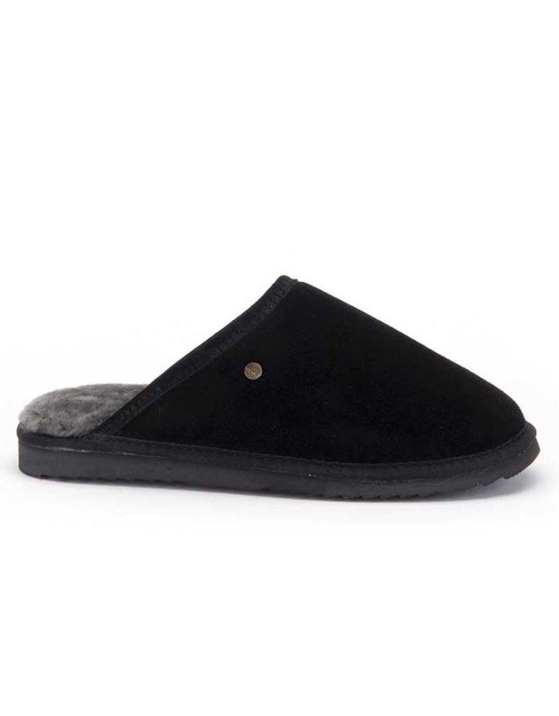 Warmbat Warmbat Classic Suède zwart pantoffels heren