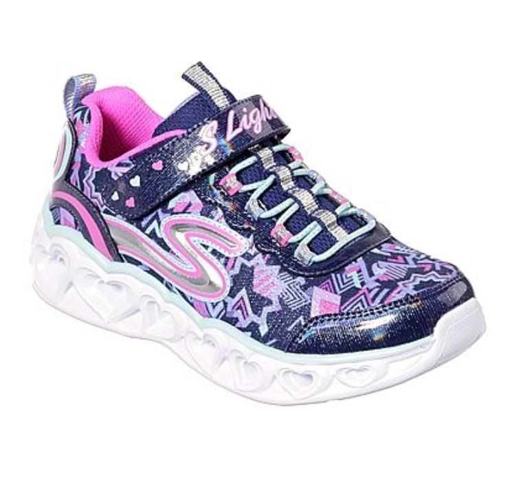Skechers Heart Lights donkerblauw sneakers meisjes