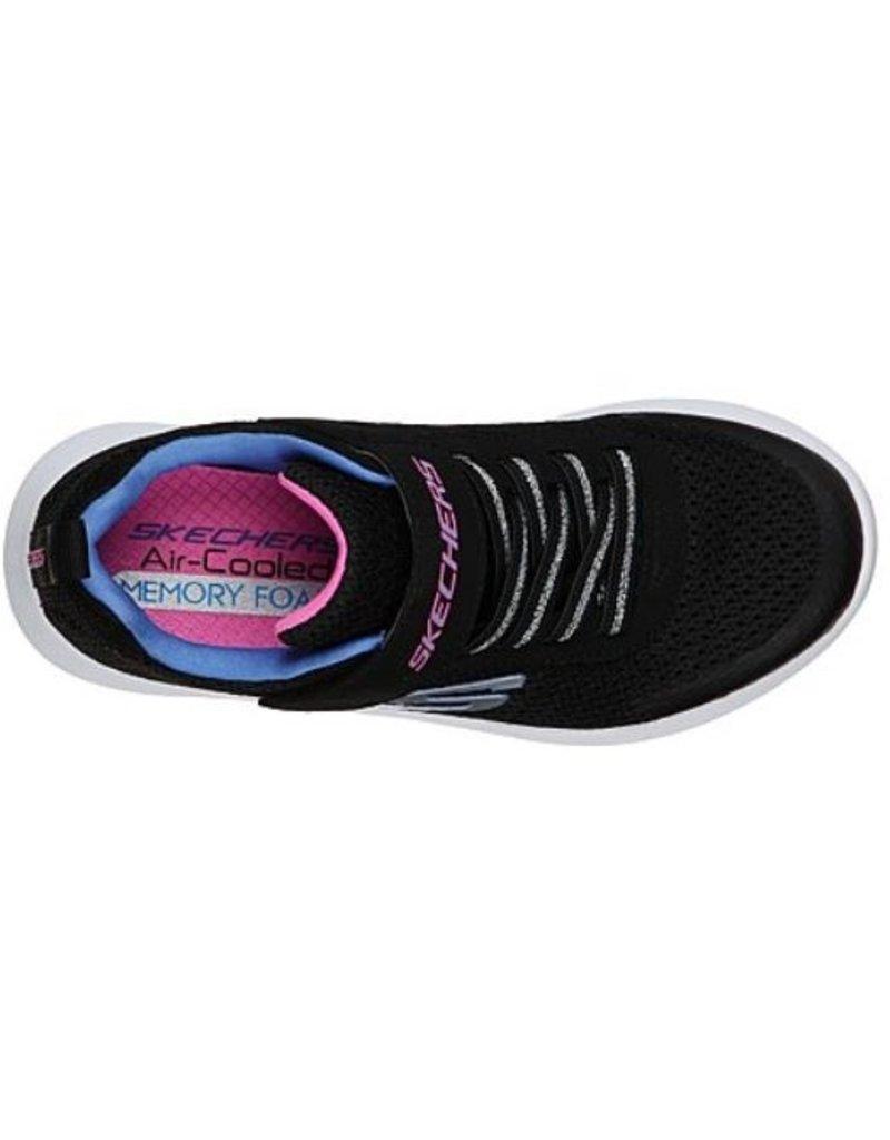 Skechers Skechers Dynamic Tread zwart sneakers meisjes