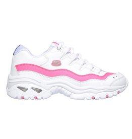 Skechers Energy - Over Joy wit roze sneakers dames
