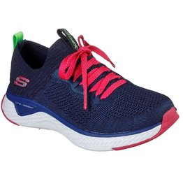 Skechers Solar Fuse ILY donkerblauw roze sneakers kids