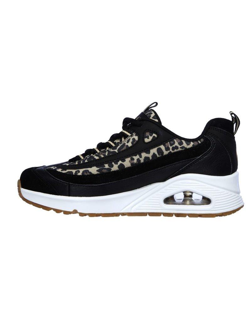 Skechers Skechers Uno Wild Streets zwart sneakers dames