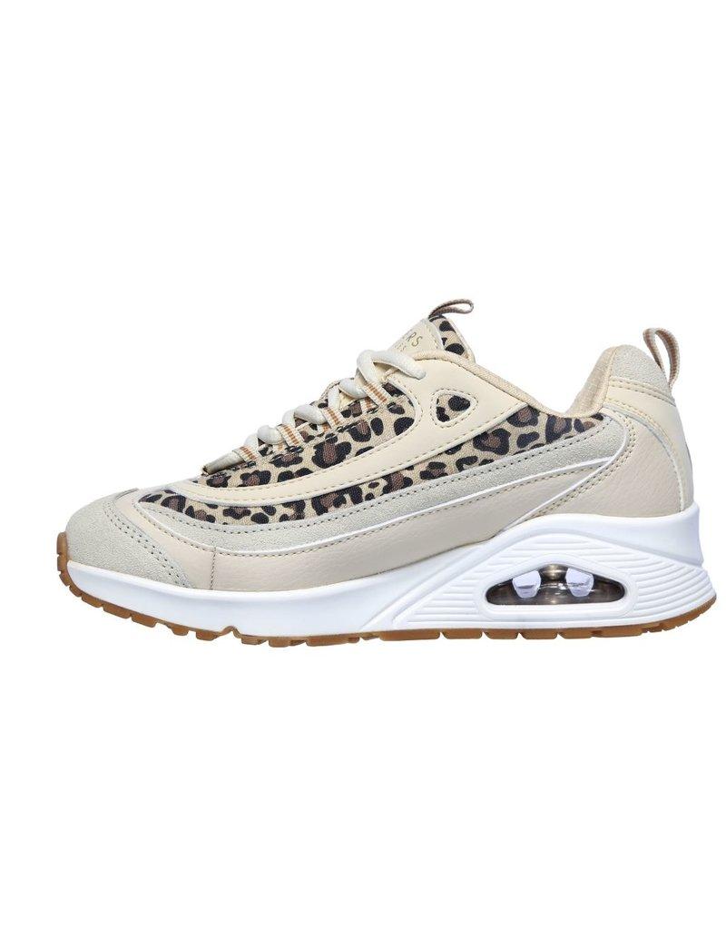 Skechers Skechers Uno Wild Streets beige sneakers dames