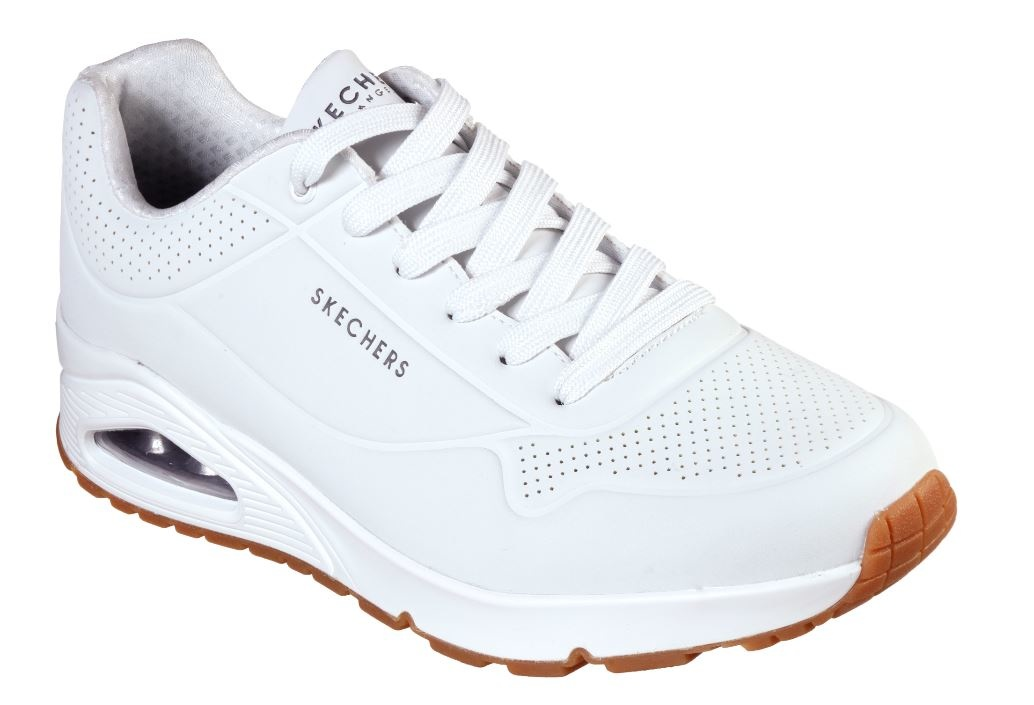 Skechers Uno Stand on Air wit sneakers heren (52458 WHT)