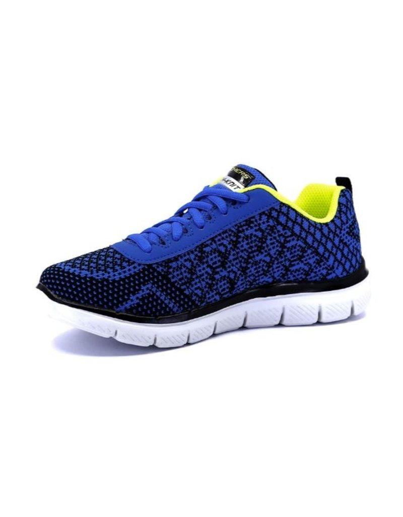Skechers Skechers Flex Advantage 2.0 Golden Point blauw geel sneakers kids