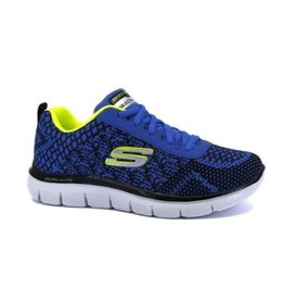 Skechers Flex Advantage 2.0 Golden Point blauw geel sneakers kids