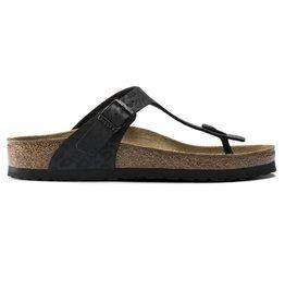 Birkenstock Gizeh Leopard zwart slippers dames
