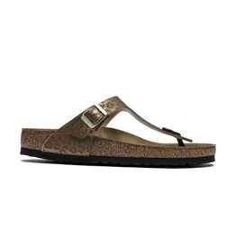 Birkenstock Gizeh Leopard goud slippers dames