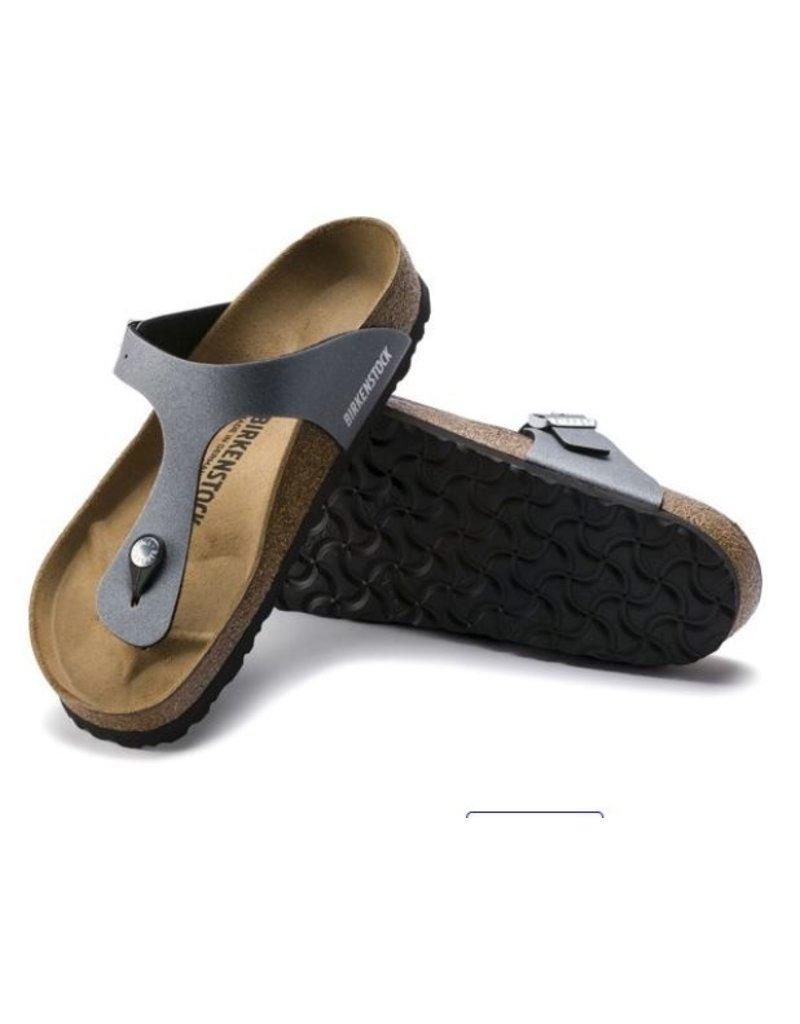 Birkenstock Birkenstock Gizeh Icy Metallic anthracite sandalen dames