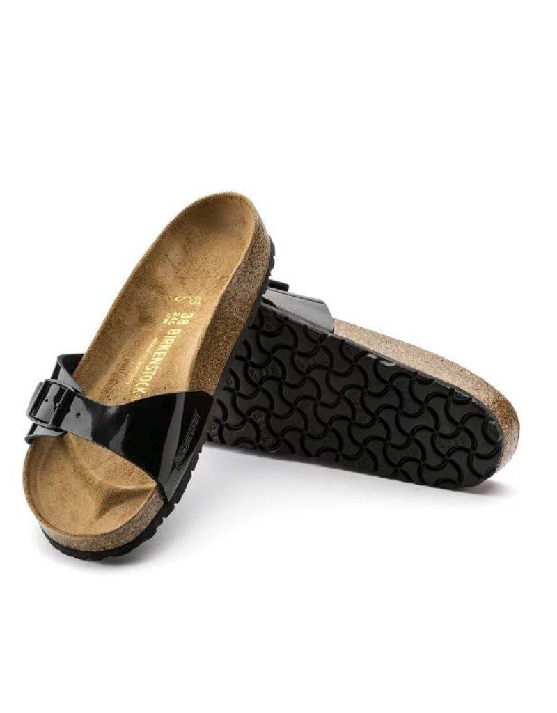 Birkenstock Birkenstock Madrid Patent zwart narrow sandalen dames