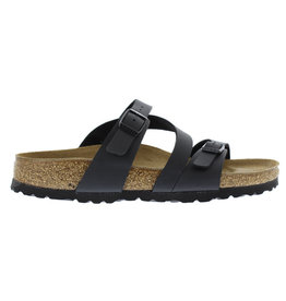 Birkenstock Salina Strappy narrow zwart slippers dames