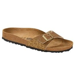 Birkenstock Madrid Leopard goud sandalen dames