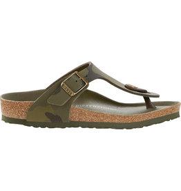 Birkenstock Gizeh desert soil camo green narrow sandalen kids