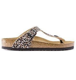 Birkenstock Gizeh Tex Leo zwart bruin slippers dames