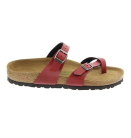 Birkenstock Mayari Pull Up bordeaux  regular slippers dames (S)