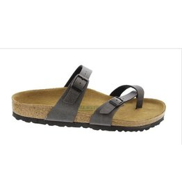 Birkenstock Mayari Pull Up anthracite narrow slippers dames