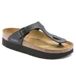 Papillio Gizeh zwart regular platform slippers dames (S)