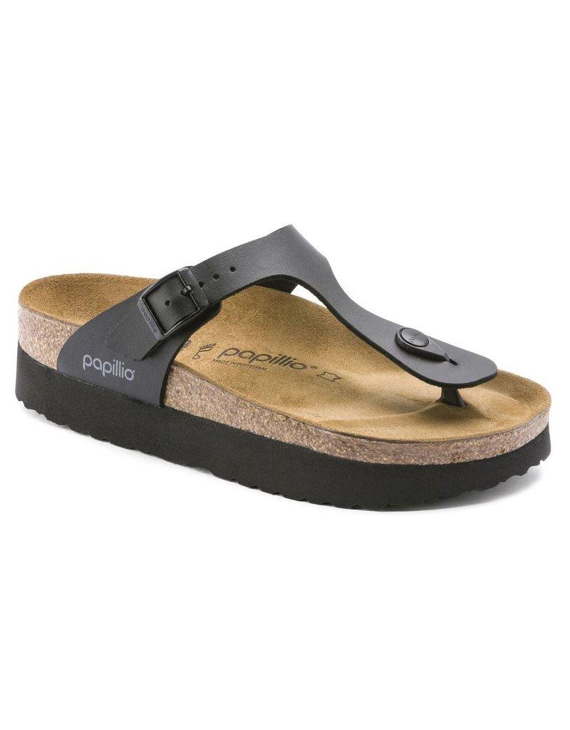 Papillio Papillio Gizeh zwart regular platform slippers dames (S)