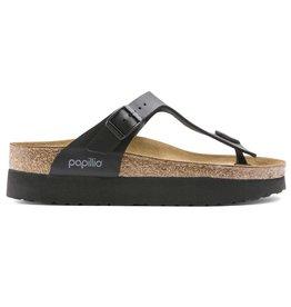 Papillio Gizeh zwart regular platform slippers dames