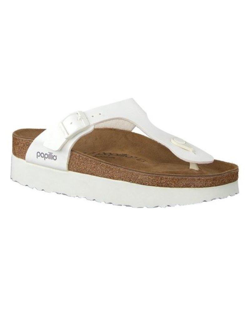 Papillio Papillio Gizeh wit regular platform slippers dames