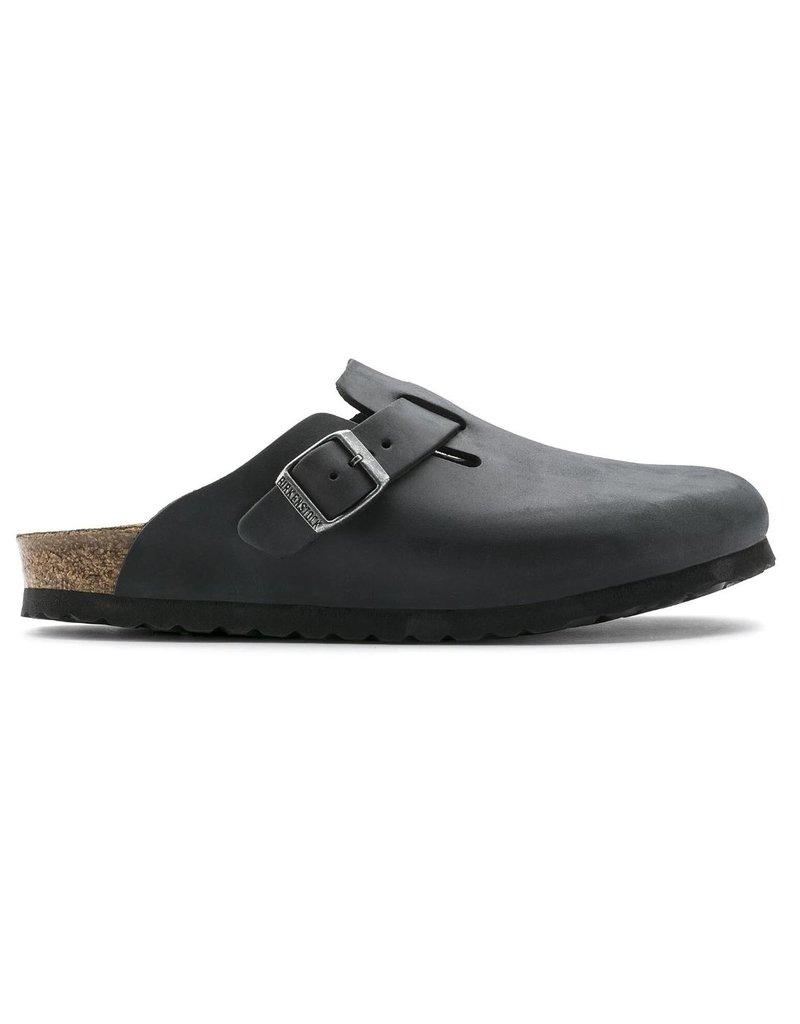 Birkenstock Birkenstock Boston zwart nubuck regular sandalen heren (S)