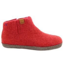 Tofvel Pantoffels rood uni