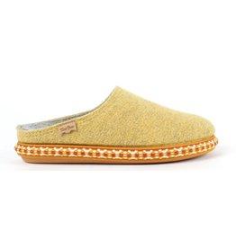 Toni Pons MIRI-CD wolvilt geel pantoffels dames